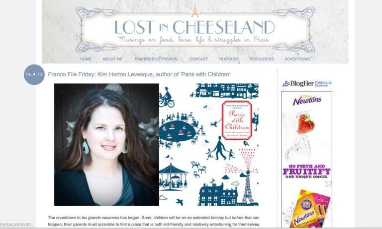 Virtual Paris with Children Book Tour Begins at Lost in Cheeseland!