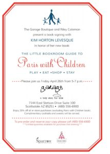 Official Invitation: Paris With Children Release and Signing Event, April 26, 5pm-7pm
